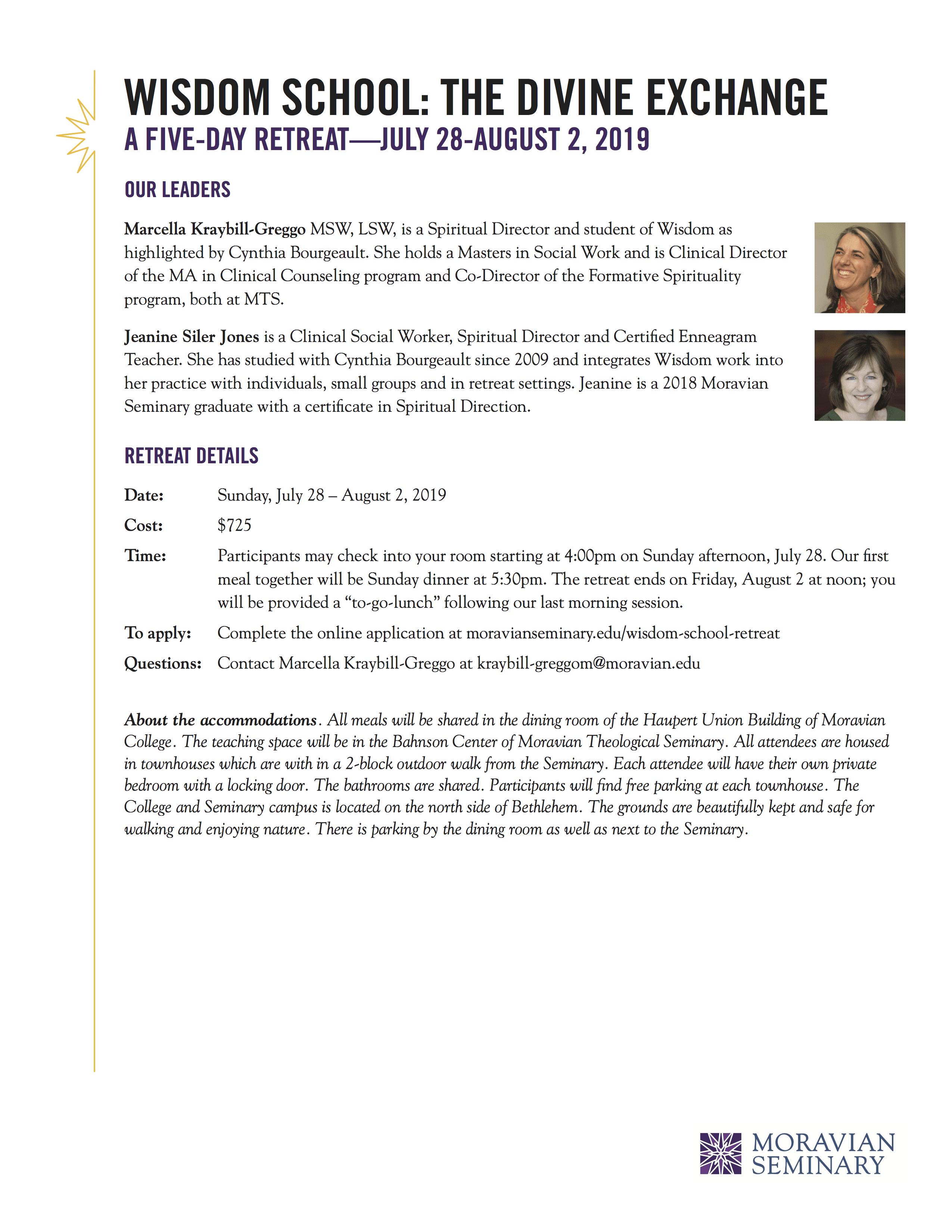 July 2019 Wisdom School Siler Jones Counseling
